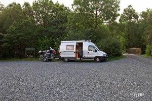Übernachtungsplatz hinter dem Glentrool Visitor Centre