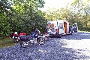 Übernachtungsplatz hinter dem Glentrool Visitor Centre 2