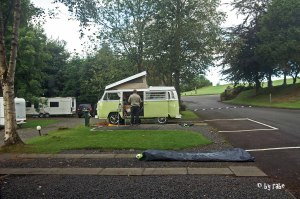 VW Camingbus im Trossachs Holiday Park 1