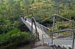 Hängebrücke über Schlucht von Corrieshalloch