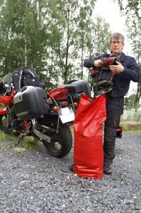 Packen auf dem Zeltplatz in Fevik