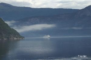 Einfahrt Kreuzschiff in Eidfjord 4