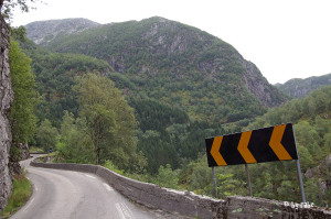 herrliche Straßen in Norwegen