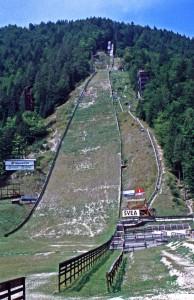 Skisprungschanze Letalnica bei Planica