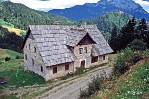 holzgedecktes Haus