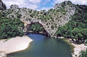 Frankreich Ardèche Pont d'Arc