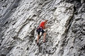 Kletterei in den Dolomiten