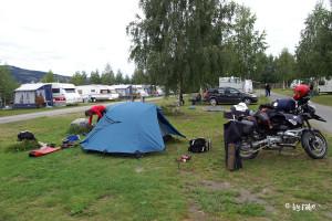 unser Campingplatz bei Lillehammer