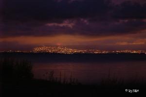 nächtlicher Blick auf Oslo