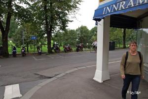 unser Parkplatz in Oslo