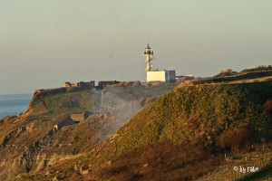 Fort d'Alprech mit Leuchtturm von Le Portel