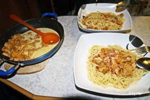 Spaghetti mit wilden Pfifferlingen