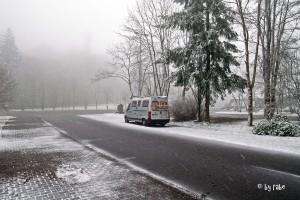 Schnee an der Wildenburg 1